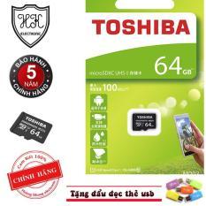 Thẻ nhớ MicroSDXC Toshiba 64GB 100MB/s chuyên camera (tặng đầu đọc thẻ usb)