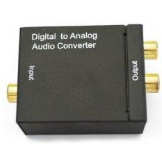 Thiết bị chuyển đổi tín hiệu quang sang âm thanh Toslink Coaxial to Audio R/F Converter (Đen)