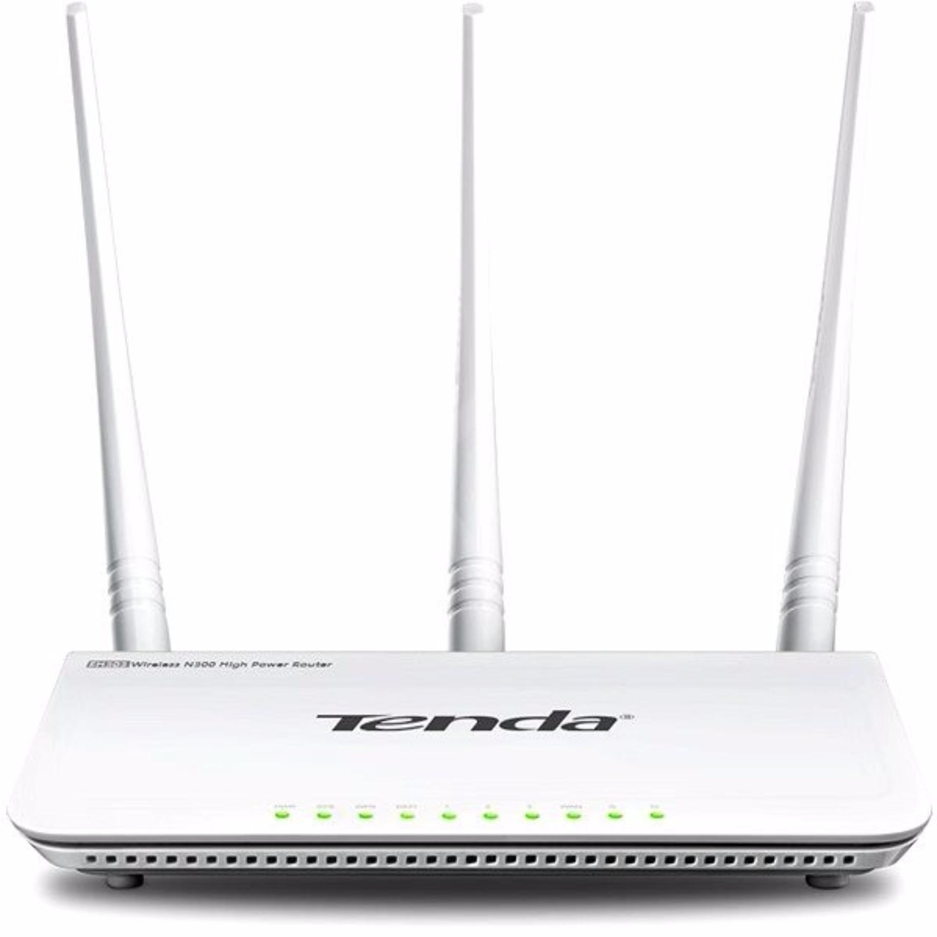 Thiết bị phát sóng Wifi 3 angten Tenda F3 (Trắng)