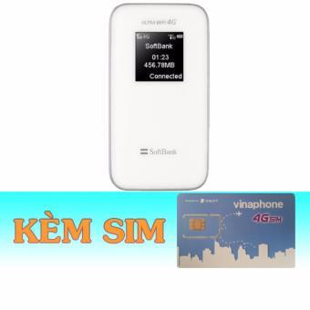 Rẻ nhất Thiết Bị Phát Wifi 3G4G Softbank 102Z+Sim 4G