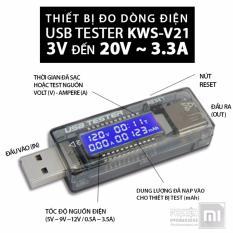 Thiết bị test pin sạc, củ sạc, đo dòng điện cho pin, check dung lượng pin KWS-V21