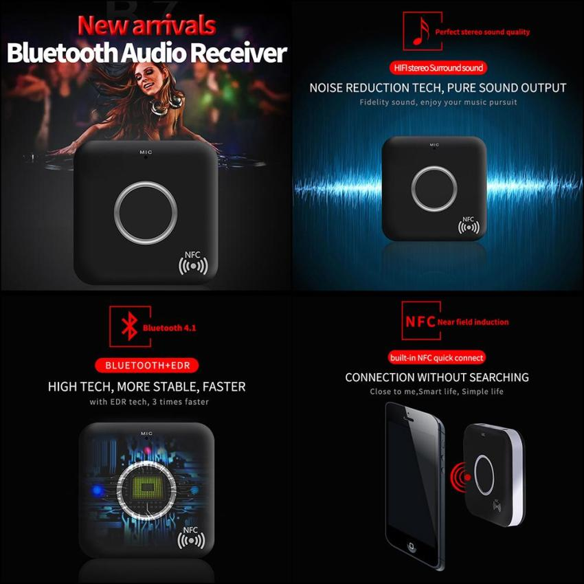 Hình ảnh Thiết bị thu phát âm thanh bluetooth niceEshop cho tai nghe, TV, máy tính, máy tính bảng, máy nghe nhạc MP3 / MP4