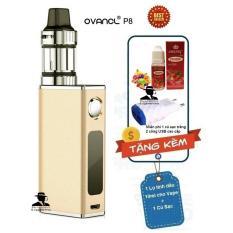 Thuốc lá điện tử công suất 50W siêu khói OVANCL P8 Box VAPE KIT (Gold) + Quà tặng 1 lọ tinh dầu + 1 củ sạc trắng Travel Charger có 2 cổng USB  – Hàng nhập khẩu