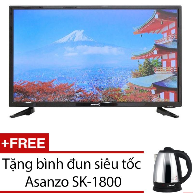 Bảng giá Tivi LED Asanzo 32inch HD – Model 32S600 (Đen) + Tặng bình đun siêu tốc Asanzo SK-1800