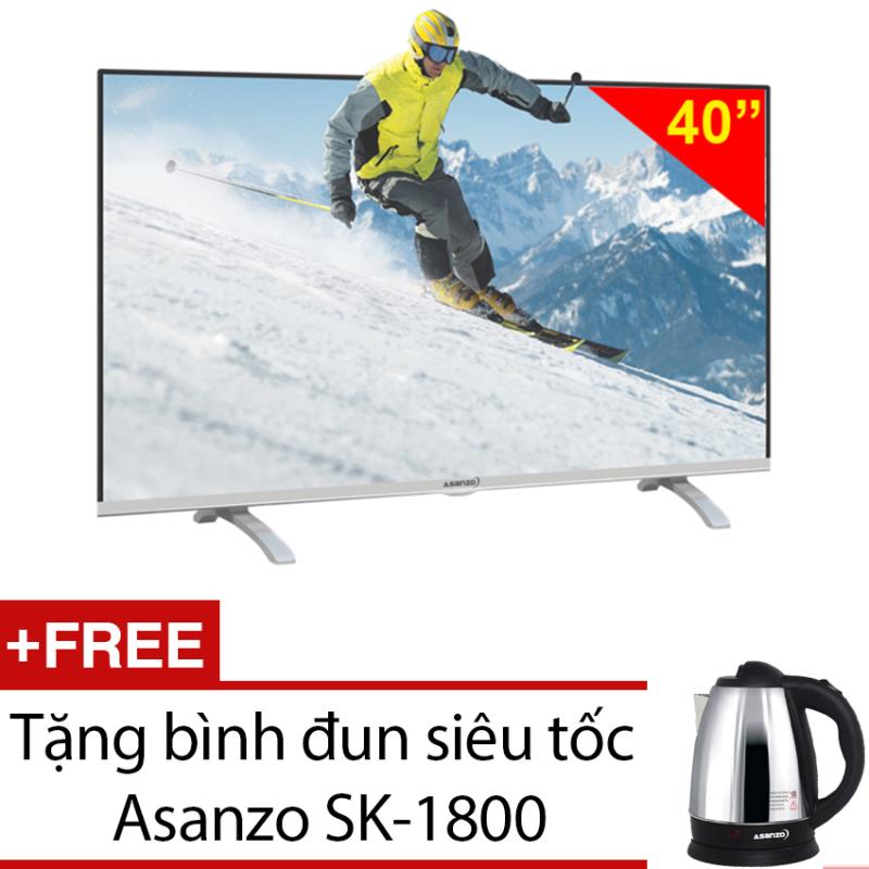 Bảng giá Tivi LED Asanzo 40 inch HD - Model 40S600 (Đen) + Tặng bình đun siêu tốc Asanzo SK-1800