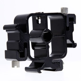 Triple Hot Shoe Mount Adapter Flash Light Stand Umbrella HolderBracket - Intl