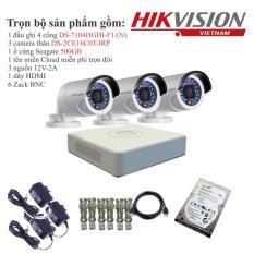 Trọn bộ 3 camera quan sát HIKVISION TVI 1 Megapixel DS-2CE16C0T-IRP chuẩn 720HD