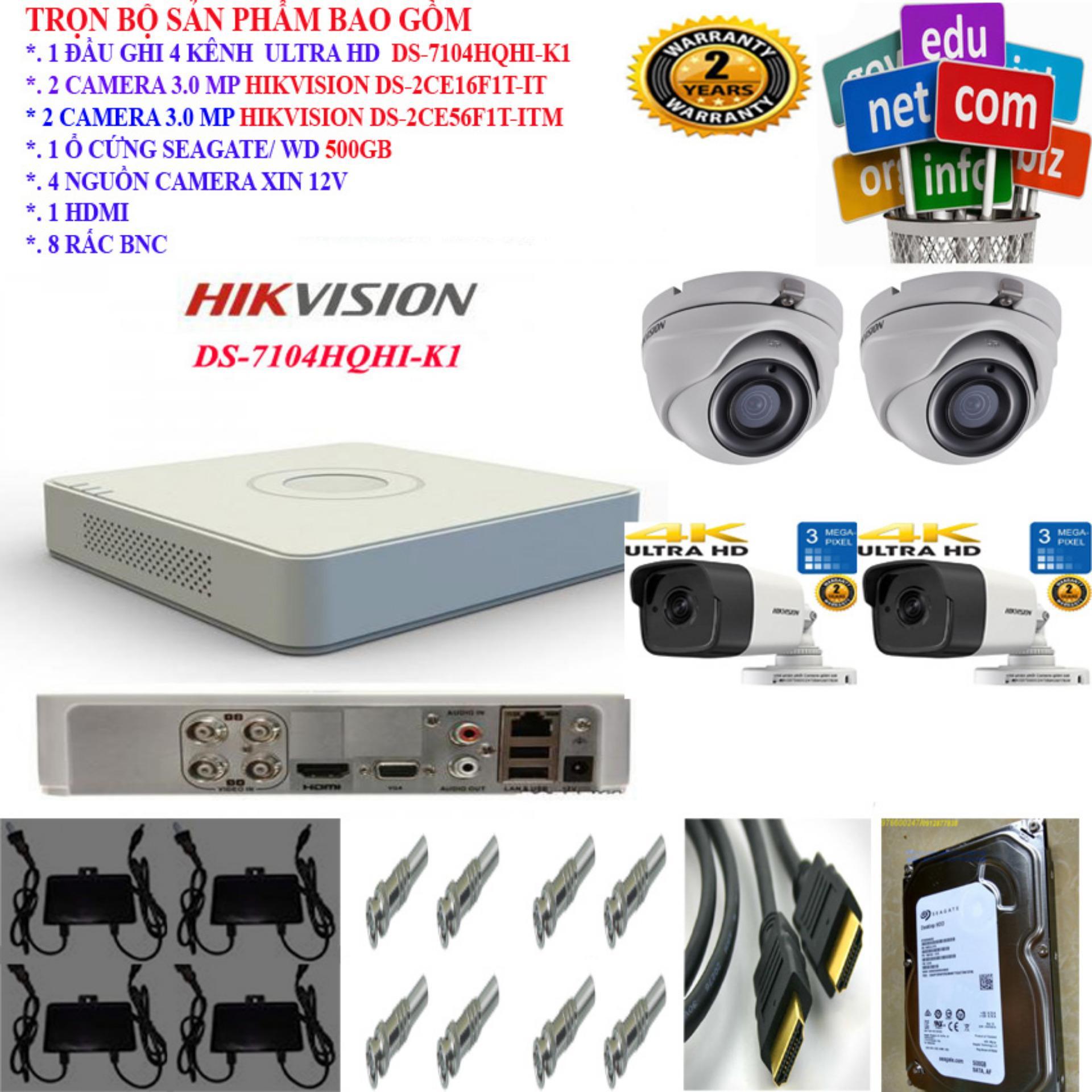 Bảng Giá Trọn bộ 4 Camera ULTRA HD 3 Megapixel và phụ kiện
