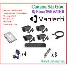 Trọn Bộ 4 Camera Vamtech 2.0MP VP-124AHDH