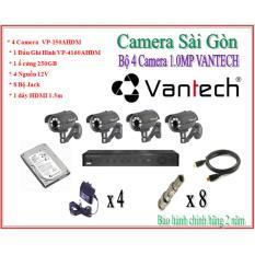 Trọn bộ 4 Camera Vantech VP-150AHDM