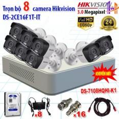 Trọn bộ 8 camrea 3.0MP DS-2CE16F1T-IT + DS-7108HQHI-K1, 1 ổ cứng Seagate/WD 1TB + Phụ kiện – Công Nghệ Hoàng Nguyễn