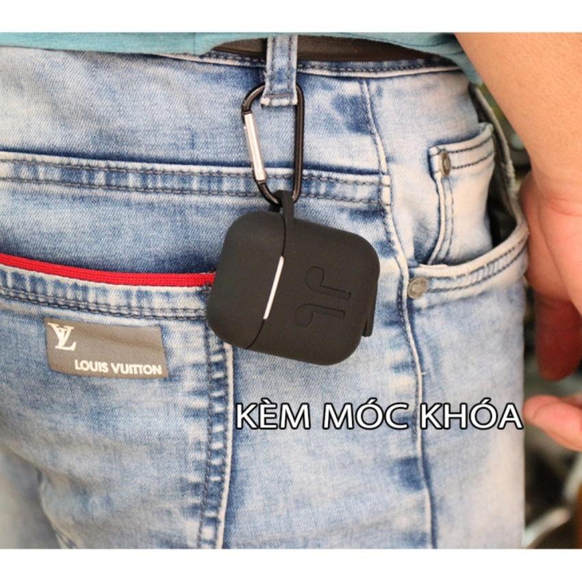 Túi silicon dùng cho tai nghe Airpods loại tốt , kèm móc khóa - bao silicon