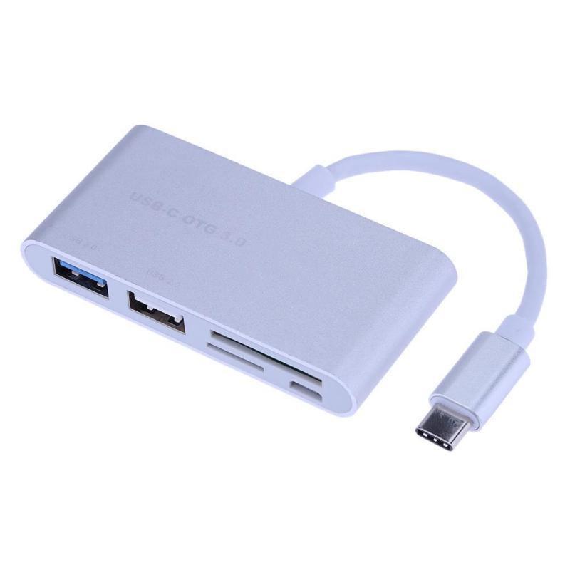 Bảng giá Type-C to USB 2.0+ USB 3.0+ Micro USB+ SD+ TF Hub Adapter Card Reader (Silver) - intl Phong Vũ