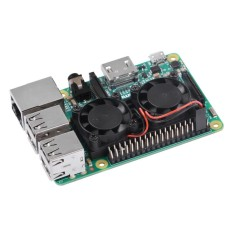 Giá Tốt Ultimate Dual Cooling Fan Kit Module for Raspberry Pi 3B, 2B (No Pi) – intl Tại Extreme Deals