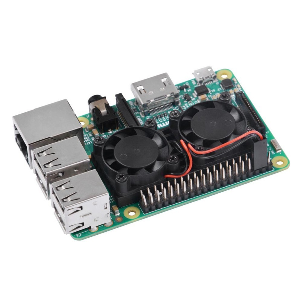 Bảng Giá Ultimate Dual Cooling Fan Kit Module for Raspberry Pi 3B, 2B (No Pi) – intl Tại Extreme Deals
