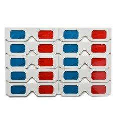 Universal Cardboard Paper Red Blue Cyan 3D Movie Glasses Set of 10 – intl