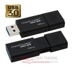 USB 3.0 16GB Kingston DataTraveler 100 G3 (Đen) – Hãng Phân phối chính thức