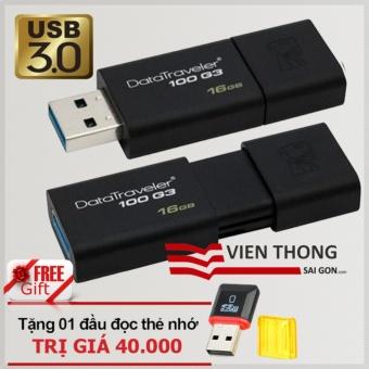 Nên mua USB 3.0 16GB Kingston DataTraveler 100 G3 (Đen)  ở Viễn Thông (Tp.HCM)