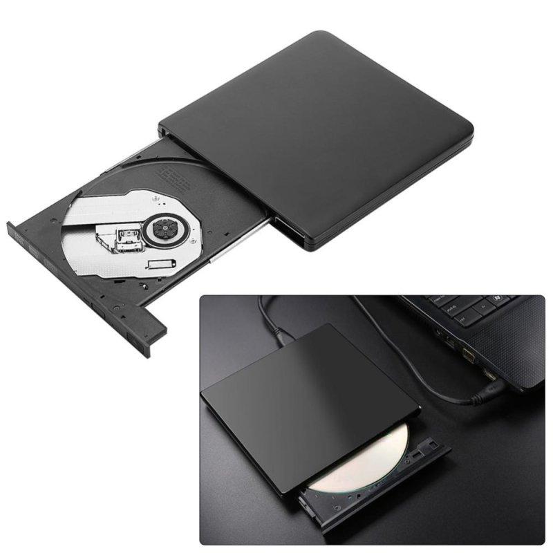 Bảng giá USB 3.0 External DVD/CD-RW Drive Burner Slim Portable Driver For Netbook MacBook Laptop Black - intl Phong Vũ