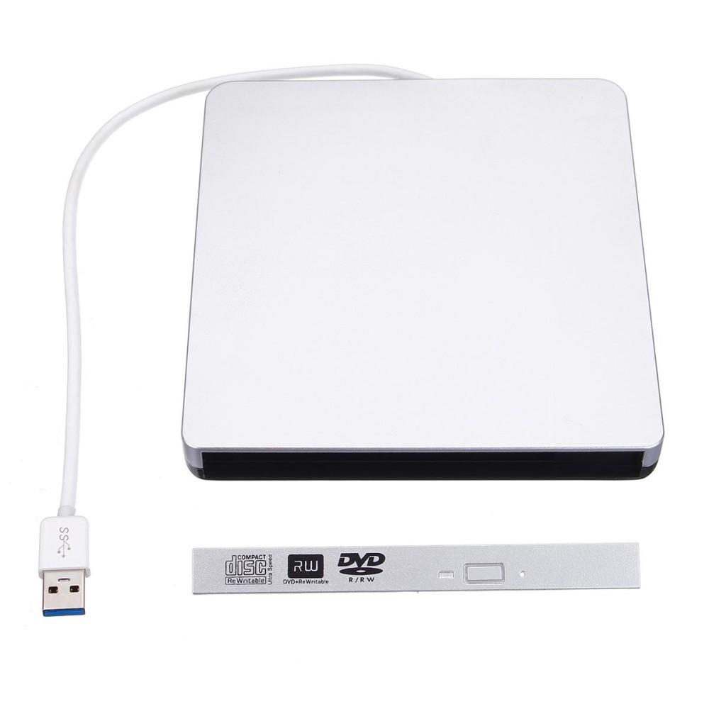Mua USB 3.0 SATA 9.5mm External Enclosure Case Writer Burner Drive For Laptop CD/DVD – intl Tại Channy
