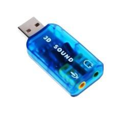 USB âm thanh 3D Sound GamoShop (Xanh)