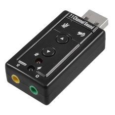 USB âm thanh cho máy tính và laptop có nút chỉnh âm lượng