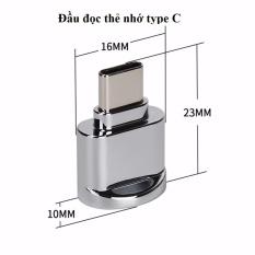 USB-C USB3.1 Loại C đến USB 2.0 Micro SD tốc độ cao- Thẻ nhớ với chức năng OTG