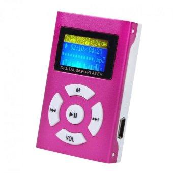 USB Mini MP3 Player LCD Screen Support 32GB Micro SD TF Card Red -intl