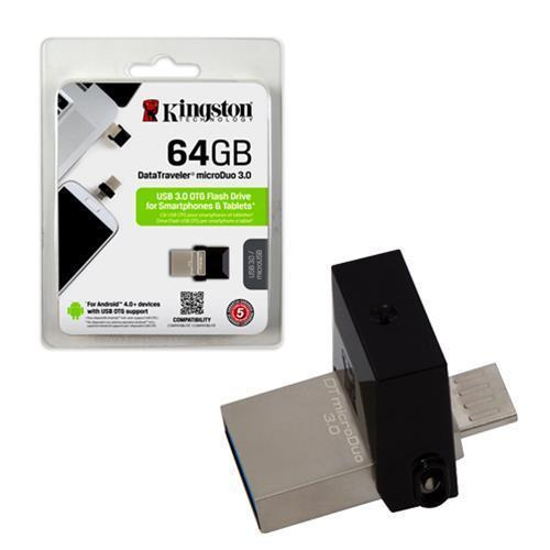 USB OTG Kingston 3.0 64GB - 2 cổng microUSB và USB (bạc)