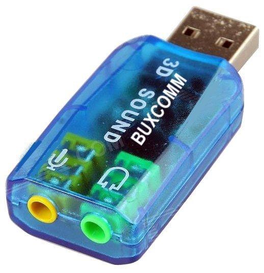 Mẫu sản phẩm USB ra sound 2.1 âm thanh 3D Sound (Xanh)