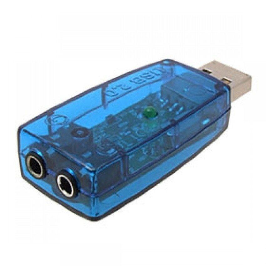 Giá USB ra sound 2.1 âm thanh 3D Sound (Xanh)