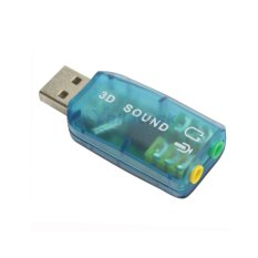 USB sound 3D 5.1 (Xanh lá cây)