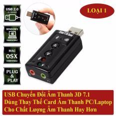 USB Sound Âm Thanh PC/Laptop Out Loa 3D 7.1
