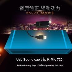 Usb sound card có dây K-Mic 720 – Hàng cao cấp