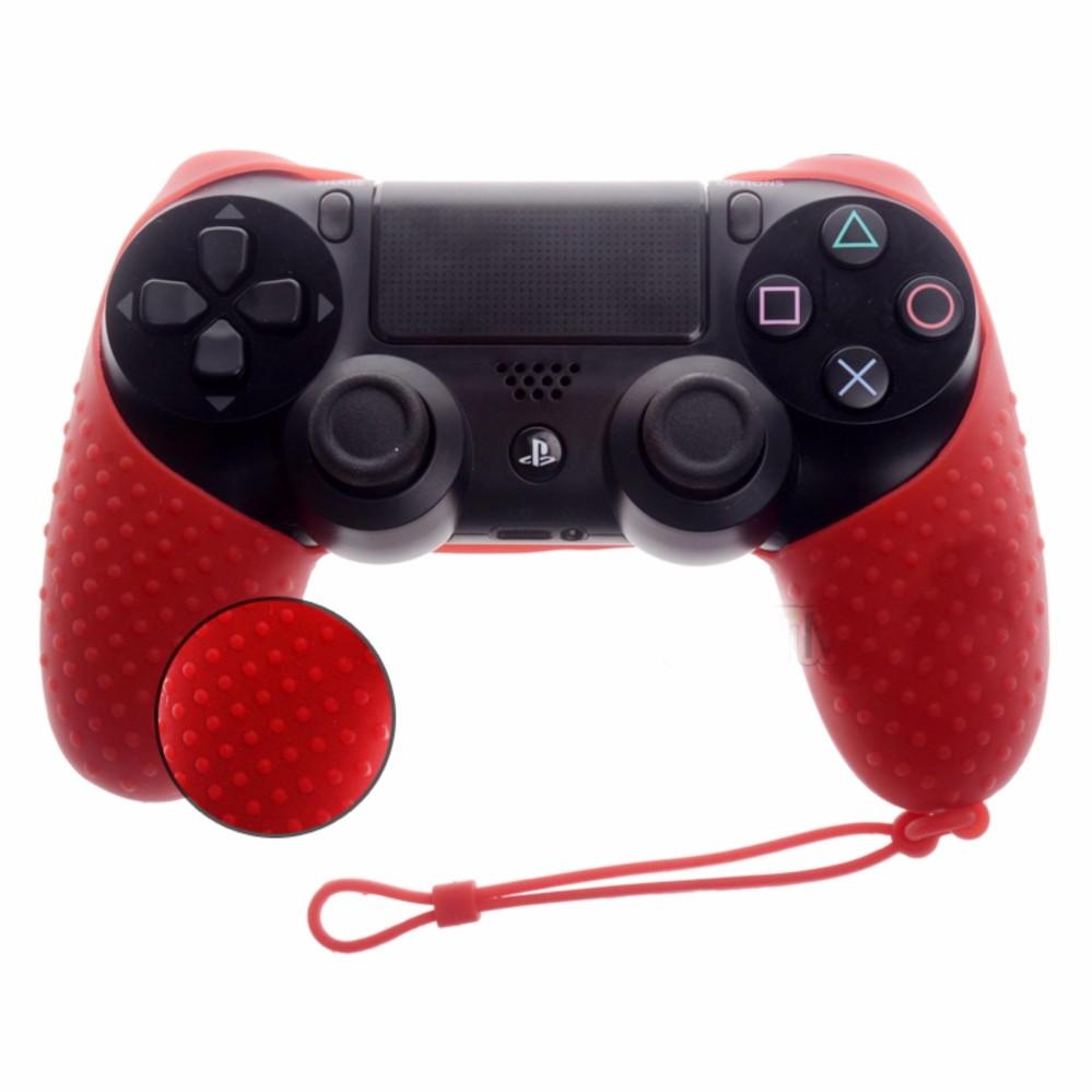 Vỏ bọc silicone thế hệ mới tay cầm PlayStation 4 (Đỏ)