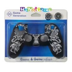 Vỏ bọc silicone tay cầm PlayStation 4 cao cấp kèm bọc núm(trắng)