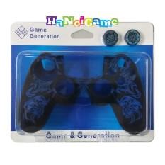 Vỏ bọc silicone tay cầm PlayStation 4 cao cấp kèm bọc núm(xanh)