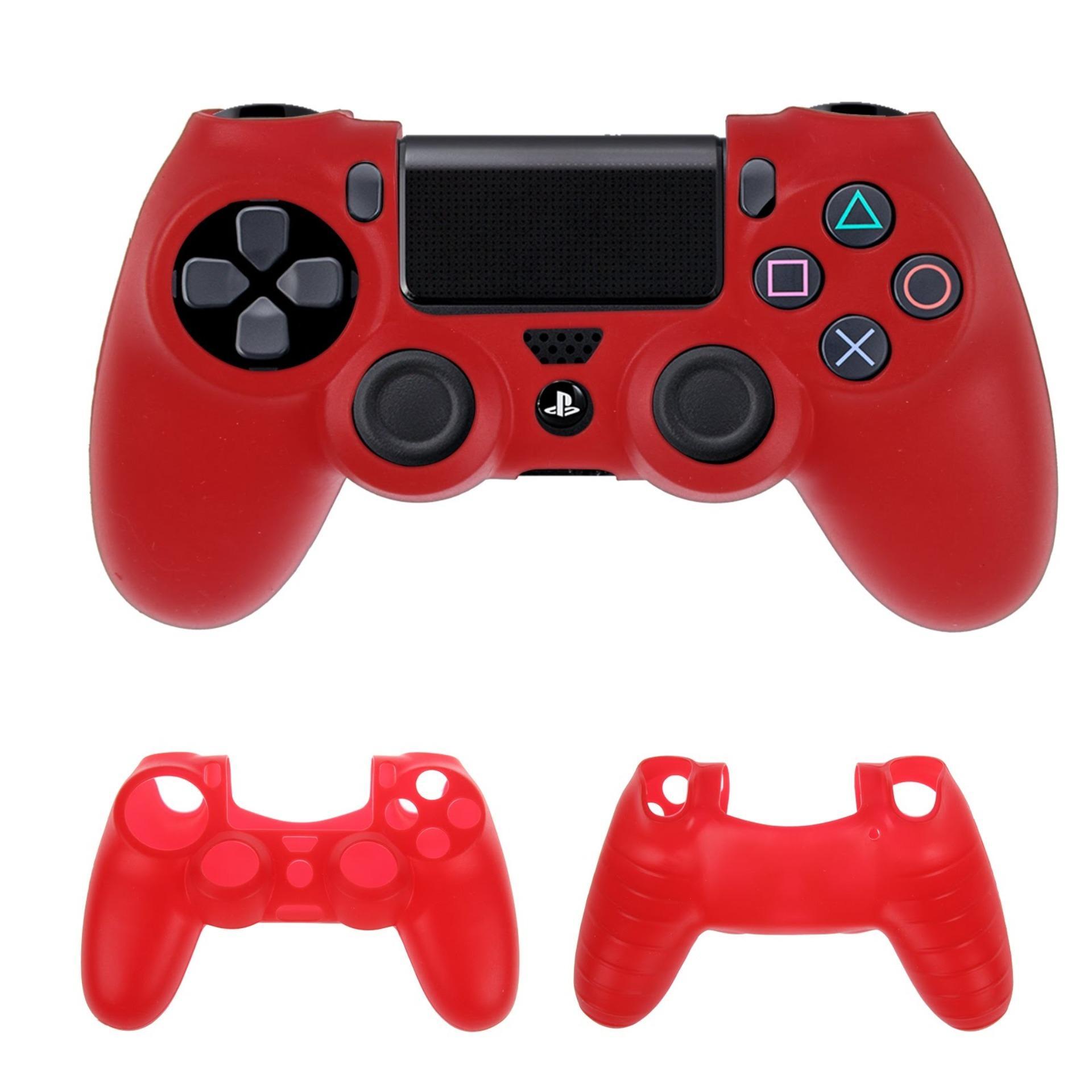 Vỏ bọc silicone tay cầm PlayStation 4 (Đỏ)