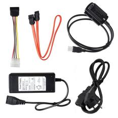 Vococal USB 2.0 đến IDE SATA S-ATA 2,5 3,5 Ổ cứng HD HDD Converter Bộ chuyển đổi cáp EU Plug