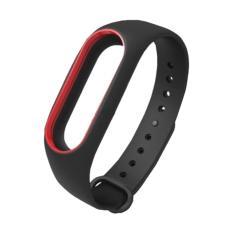 Vòng đeo thay thế Miband 2 màu đen viền đỏ