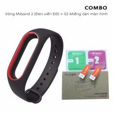 Vòng đeo thay thế Mijobs miband 2 viền màu + 02 miếng dán màn hình