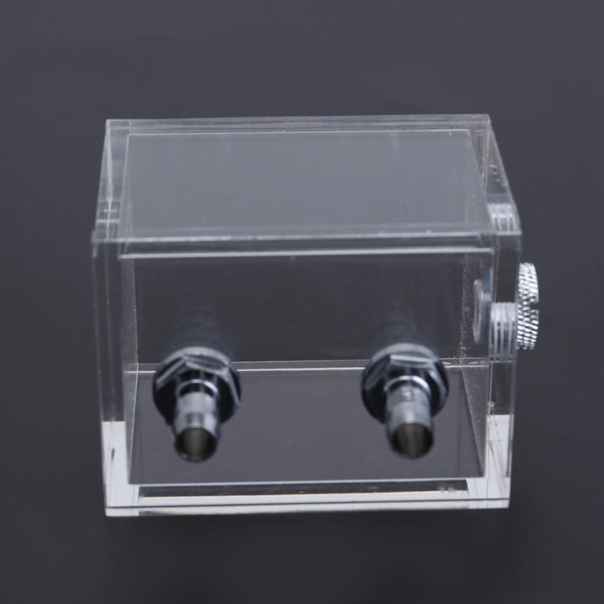 Water Tank for PC Water Cooling System with 2pcs Tube Connecters 1pc Block (Clear) - intl