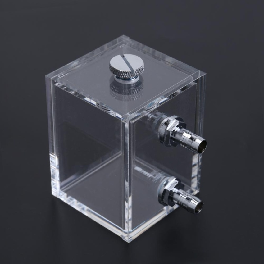 Water Tank for PC Water Cooling System with 2pcs Tube Connecters 1pc Block - intl