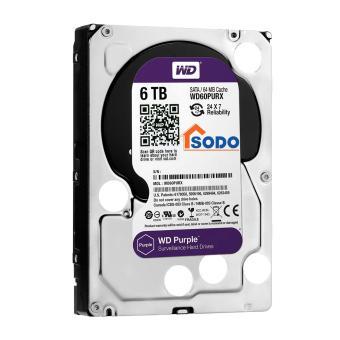 WD60PURX HDD 6TB/SATA3(6Gb/s)/64Mb CHUYÊN DỤNG GHI CAMERA 24/7- PURPLE SURVEILLANCE WESTERN DIGITAL