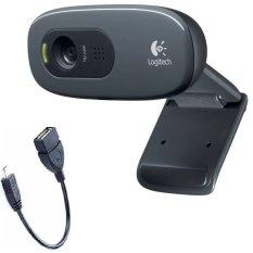 Webcam HD Logitech C270 và tặng Cáp OTG – Hãng phân phối chính thức