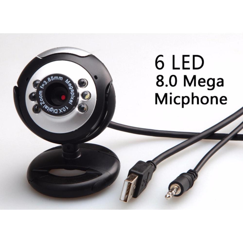 Mua Webcam máy tính X1 8MP, 6 led, tích hợp micro, xoay gập linh hoạt Tại Banta