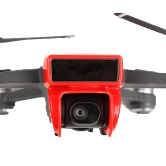 Whyus-Durable Sunshade Reducing Lens Cap Hood Flare Cover Protector For DJI Spark (Red) - intl
