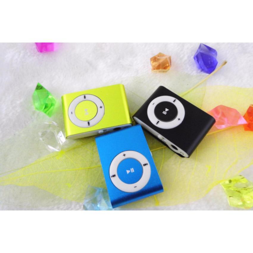 (Xem video)Máy nghe nhạc MP3(màu xanh cốm) vỏ nhôm,kẹp áo+cáp sạc