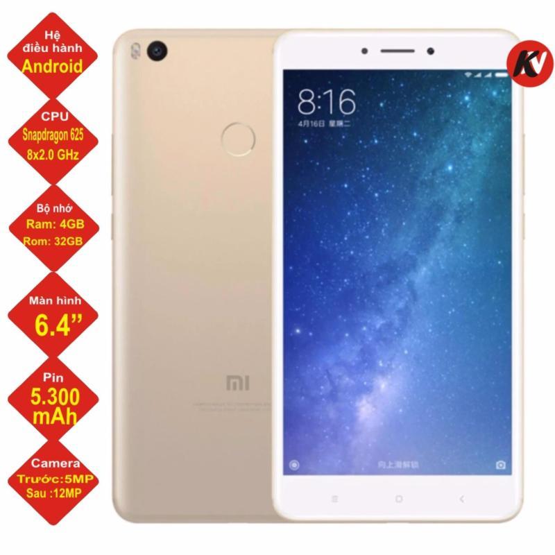 Xiaomi Mi Max 2 32 GB Ram 4GB 2017 Khang Nhung (Vàng) - Hàng nhập khẩu