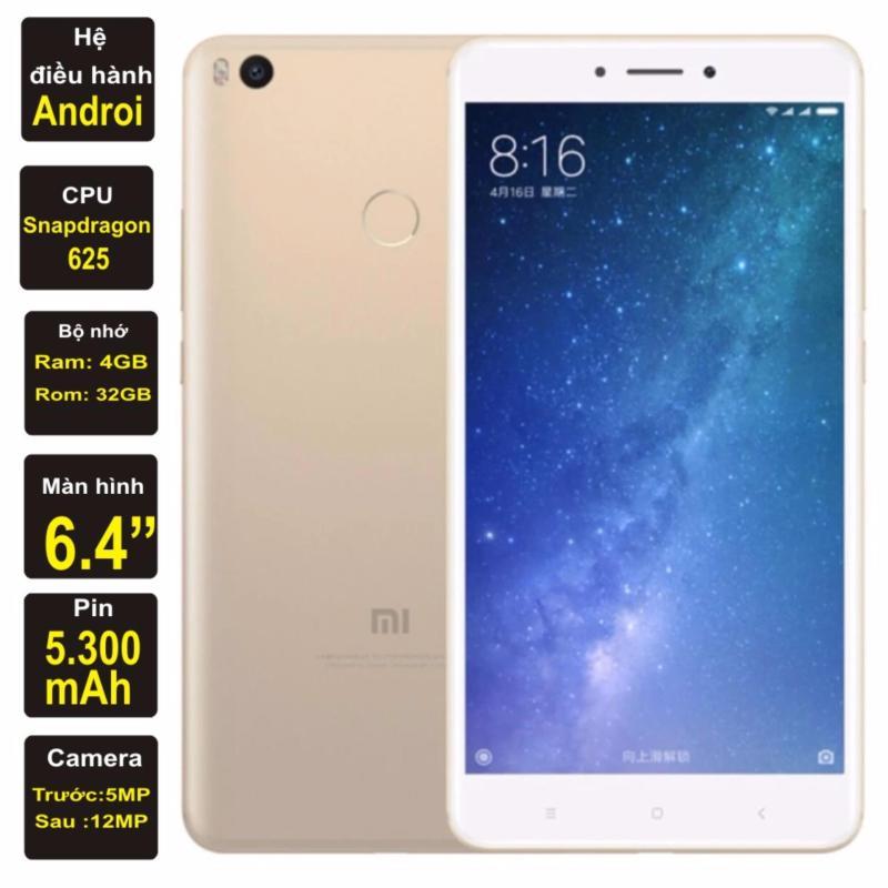 Xiaomi Mi Max 2 32GB Ram 4GB 2017 Kim Nhung (Vàng) - Hàng nhập khẩu